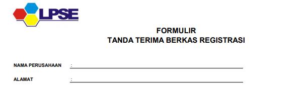 Formulir Pendaftaran Penyedia